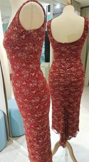 tangosolar abito rosso pizzo