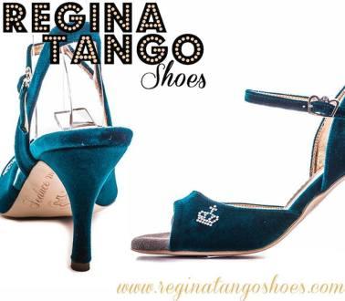 regina tango shoes tangosolar scarpe velluto azzurro