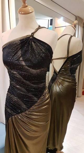 tangosolar abito oro e nero dettaglio