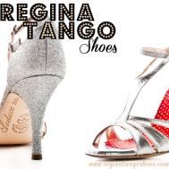 regina tango shoes argento pelle glitter