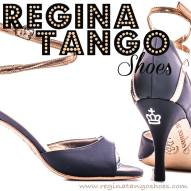 regina tango shoes pelle deep violet e oro