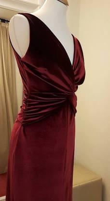 tangosolar abito raso rosso