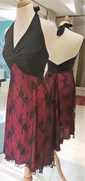 tangosolar abito rosso nero pizzo