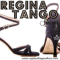 regina tango shoes donna scarpa nera vellutino lucida