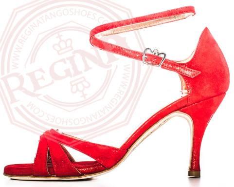 regina tango shoes donna scarpa rossa vellutino lucida