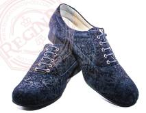 regina tango shoes uomo blu damascato