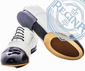 regina tango shoes uomo pelle bianca punta nero vernice tangosolar