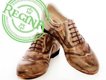 regina tango shoes uomo pelle invecchiata vernice tangosolar