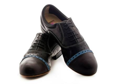regina tango shoes uomo pelle nero morbida due colori tangosolar