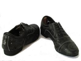 regina tango shoes uomo pelle nero morbida fantasia tangosolar
