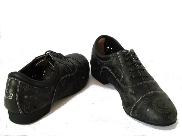 regina tango shoes uomo pelle nero morbida fantasia tangosolar
