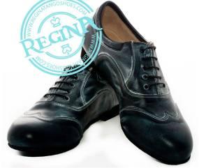 regina tango shoes uomo pelle nero morbida tangosolar