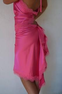 tangosolar abito rosa intenso pizzo