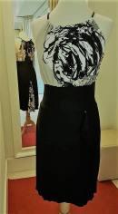 tangosolar torino abito nero fantasia bianco top