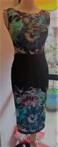 tangosolar abito nero fiori fantasia