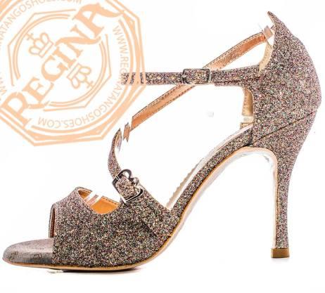 regina tango shoes glitter caleidoscopio