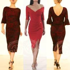 abiti tango regina tangosolar torino rosso pizzo spacco