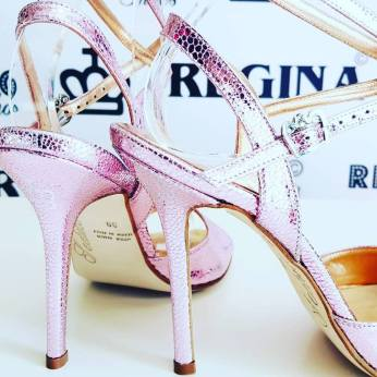 regina tango shoes rosa metallo tangosolar