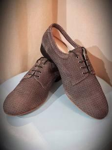 regina tango shoes scarpe uomo puntinato caffè