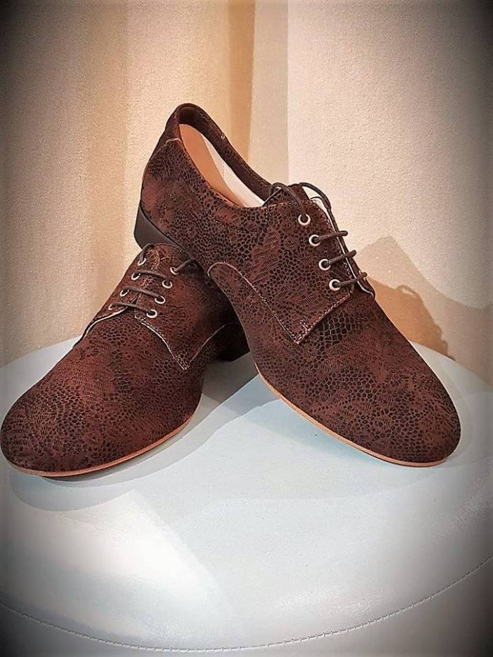 regina tango shoes scarpe uomo rettilato marrone