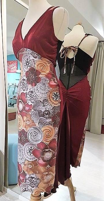 tangosolar abito fantasia rosso rubino