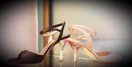tangosolar regina tango shoes tacco fiorito tinta nature e marrone