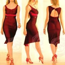 regina tango shoes abito rosso tangosolar