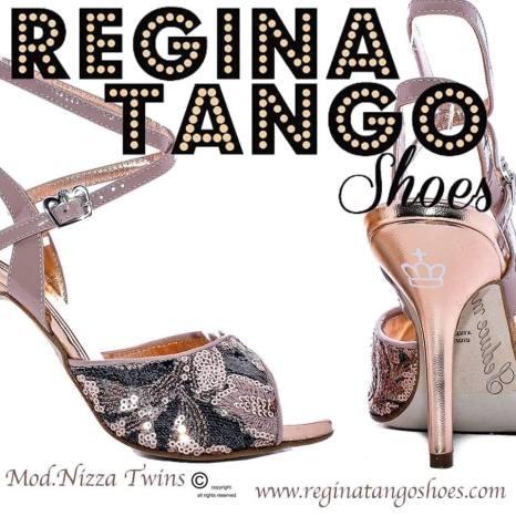 REGINA TANGO SHOES RICAMATE PERLINE