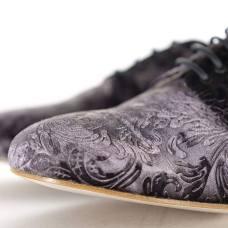 regina tangoshoes uomo scarpe bianco nero lavorato damascato tangosolar dettaglio