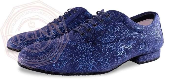 regina tangoshoes uomo scarpe blu lavorato damascato