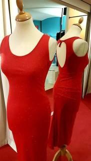 tangosolar abito rosso brillantini