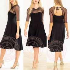 tangosolar regina tangoshoes vestito nero con tulle pois
