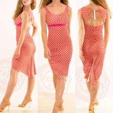 abito embrace tangosolar regina tango shoes wear rosso corallo abito pois torino moda colore pantone 2019