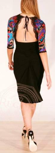 abito baileys nero e fantasia colorata regina tango shoes tangosolar abbigliamento torino