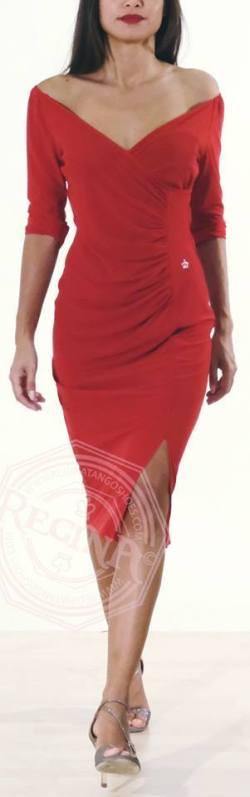 abito champagne rosso regina tango shoes tangosolar