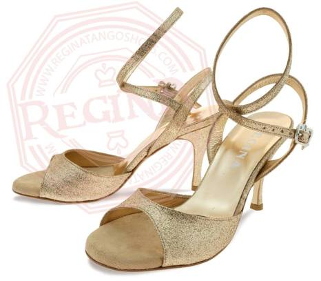 regina tango shoes modello nizza twins glitter oro tangosolar torino