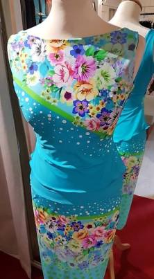 tangosolar torino abito azzurro fantasia floreale