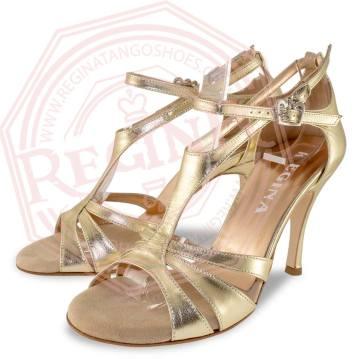 regina tango shoes scarpe ballo pelle oro sandalo tangosolar torino
