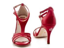 regina tango shoes scarpe ballo pelle rosso sandalo tangosolar torino
