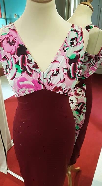 tangosolar abito longuette torino fantasia tinta unita rosa rosso