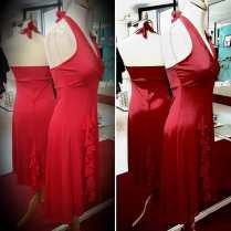 abito azalea rosso made in italy tangosolar ineditotango torino