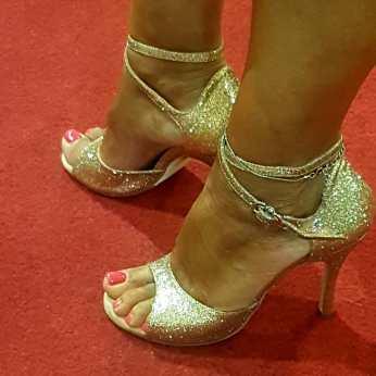 tangosolar regina tango shoes scarpe brillantini oro incrocio caviglia