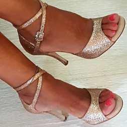tangosolar regina tango shoes scarpe brillantini oro