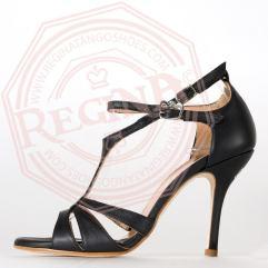 tangosolar regina tango shoes scarpa nera ballo tango tacco alto stiletto sandalo