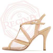 tangosolar regina tango shoes scarpa oro glitter ballo tango tacco alto stiletto sandalo tallone scoperto