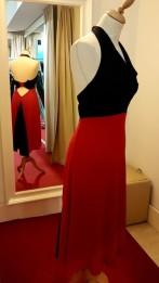 abito rosso nero tangosolar torino schiena nuda