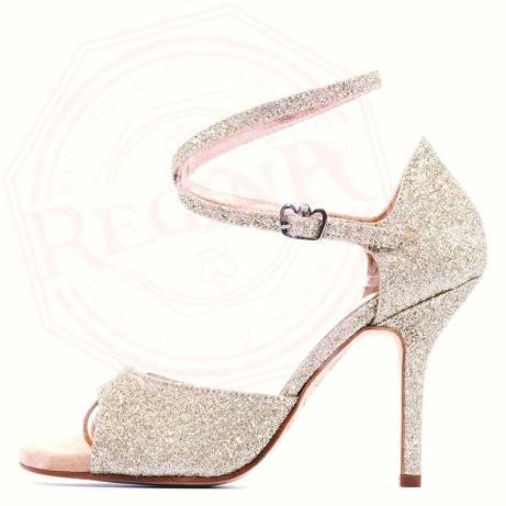 regina tango shoes glitter argento tacco alto torino