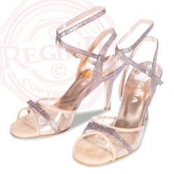 regina tango shoes glitter argento vinile tacco alto torino