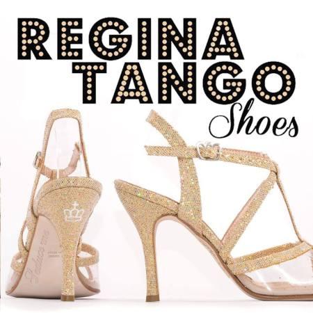 regina tango shoes glitter oro tacco alto torino