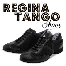 regina tango shoes scarpe tango uomo nero pelle traforato